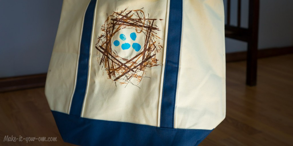 Re-usable Bird Nest Bag for collecting Easter eggs or everyday use