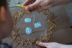 Sewing Bird's Nest for Spring