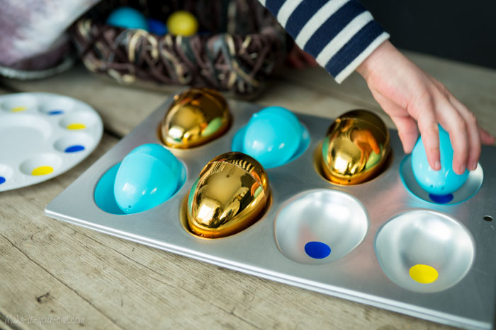 Reviewing patterning with filler (Easter) eggs