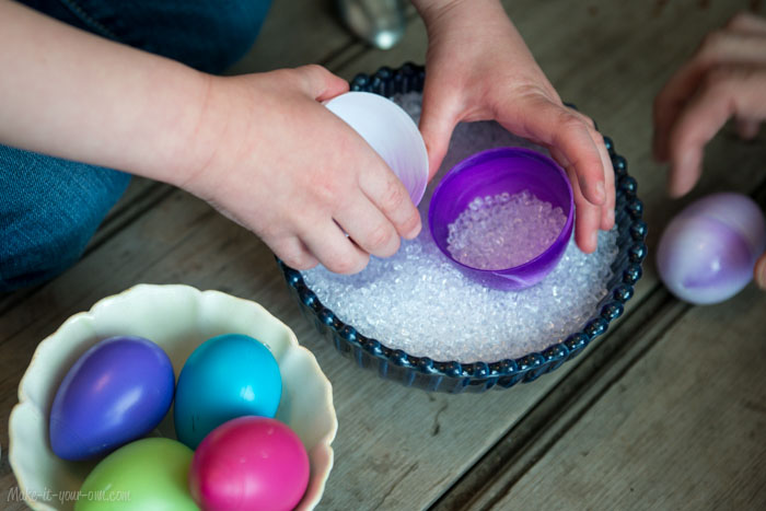 Re-using Filler (Easter) Eggs to make your own shakers