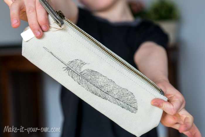 Give-away-feather-pencil-case