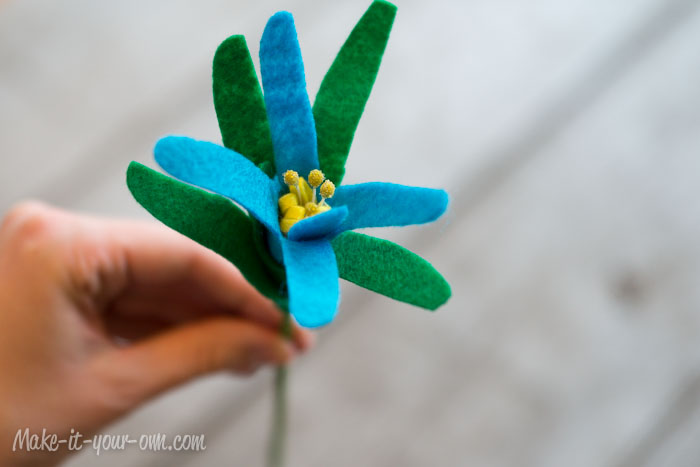 Handprint Bouquet: Final flower, Mother's Day