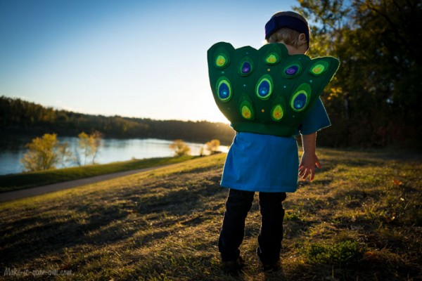 Transform a T-shirt into a Peacock Costume from make-it-your-own.com (Art, crafts & activities for kids)