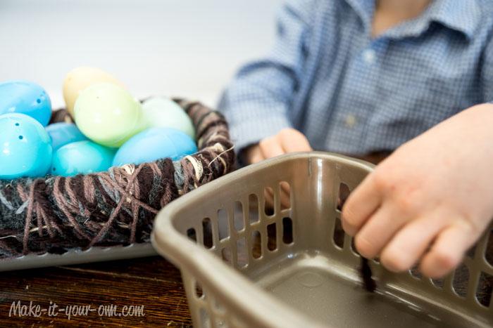 Making Bird Nest Storage Basket