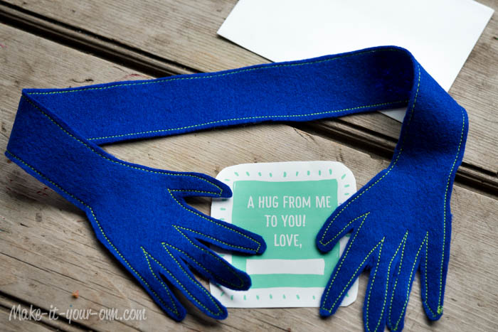 Send-able Hug: Tuck into envelope & mail