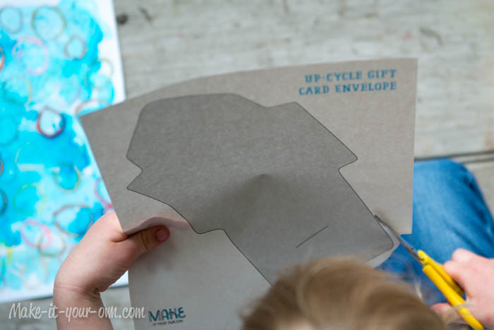Make Your Own Gift Card Envelope: Cut template