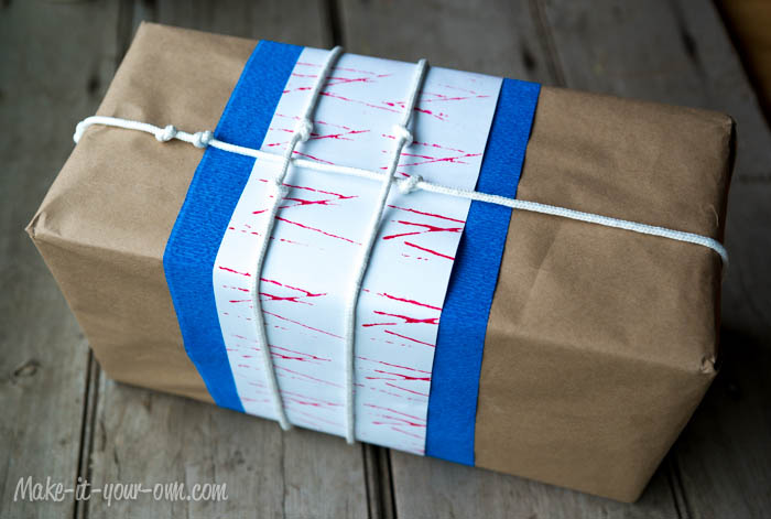 """Knots About You!"" Gift Wrap, Printing with Twine"