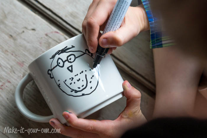 Secret Message Mug: Drawing Dad