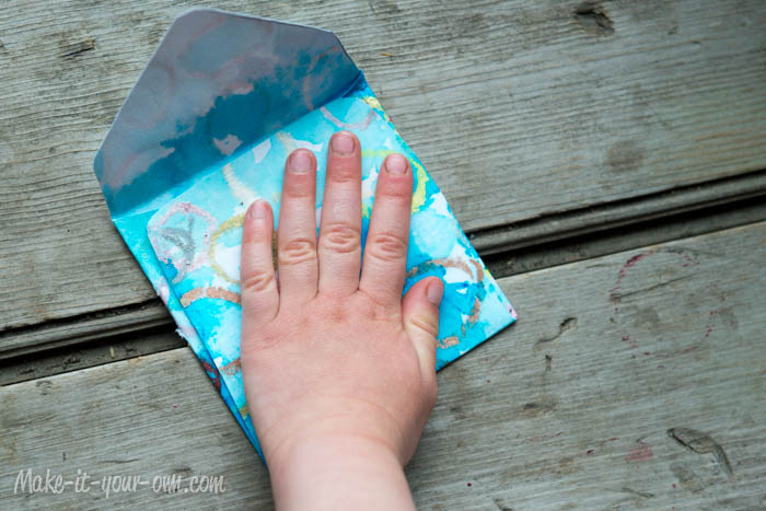 Make Your Own Gift Card Envelope: Glue Together