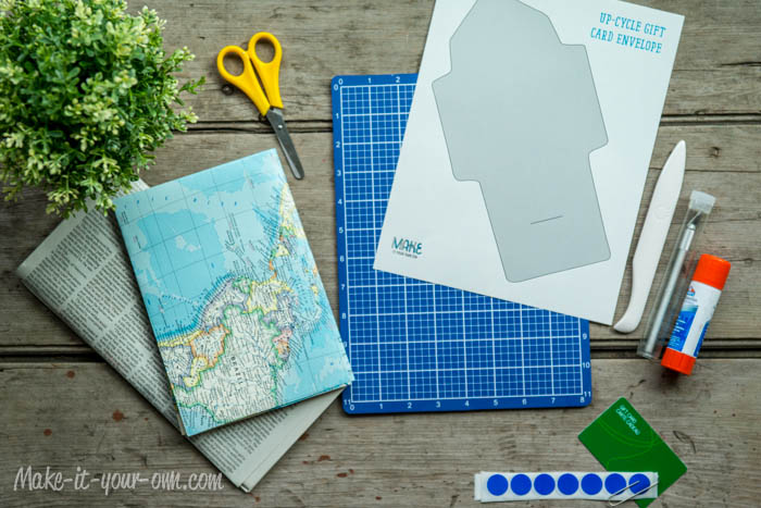 Make Your Own Gift Card Envelope: Supplies