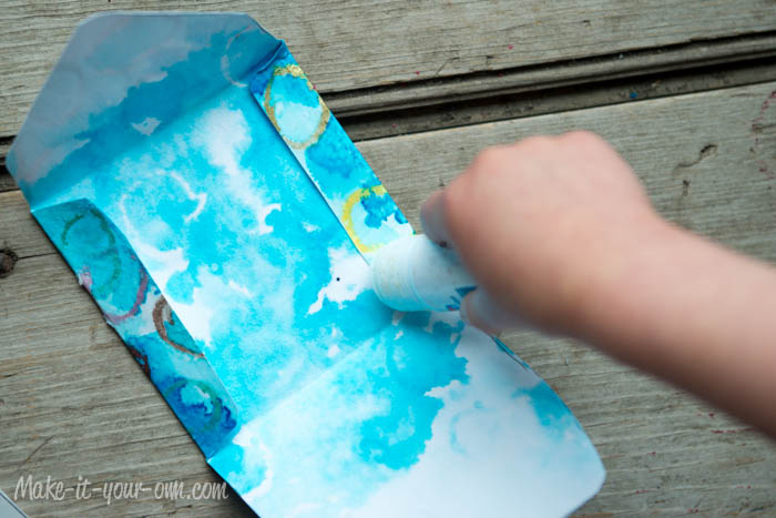 Make Your Own Gift Card Envelope: Glue Edges