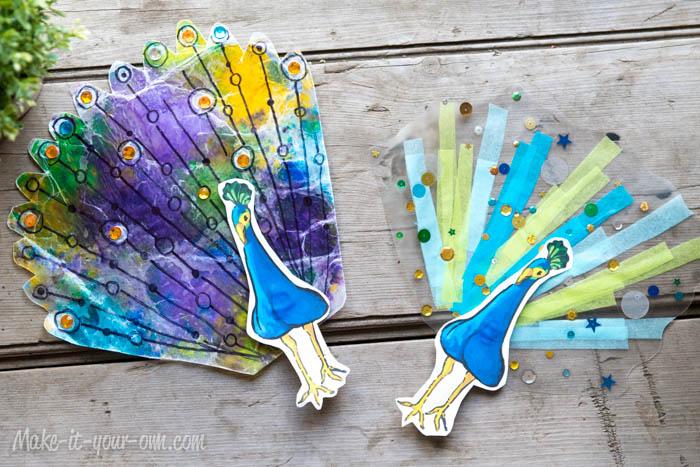 Sun Catcher Peacocks: Finshed