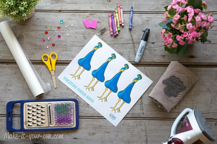 Sun Catcher Peacocks: Method A Supplies
