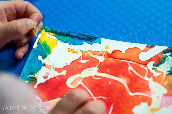 Watercolour Postcards: Peeling off Rubber Cement