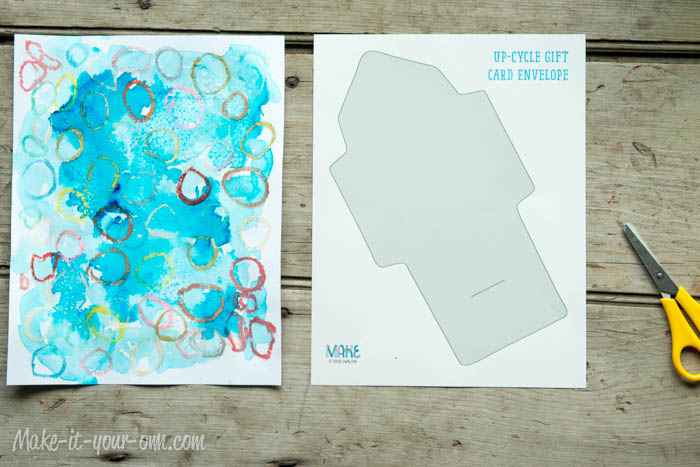 Make Your Own Gift Card Envelope: Choose Paper