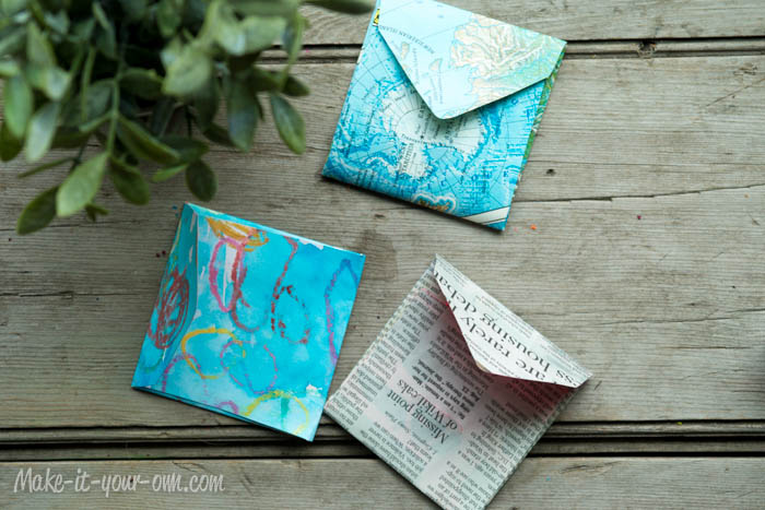 Make Your Own Gift Card Envelope: Finished Envelopes