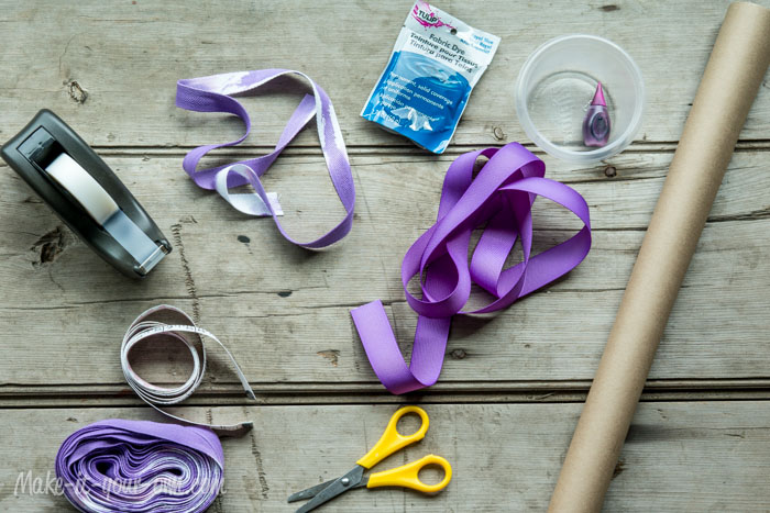 """My, How You Have Grown!"" Gift Wrap Idea with Measuring Tape: Materials"