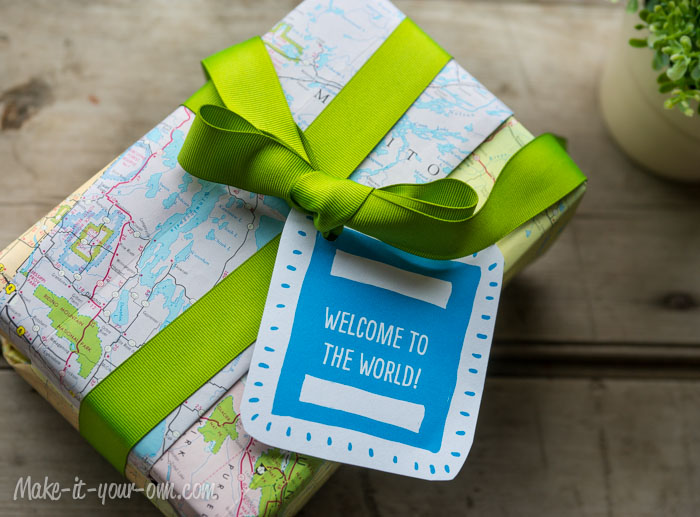 """Welcome to the World"" Baby Gift Wrap"