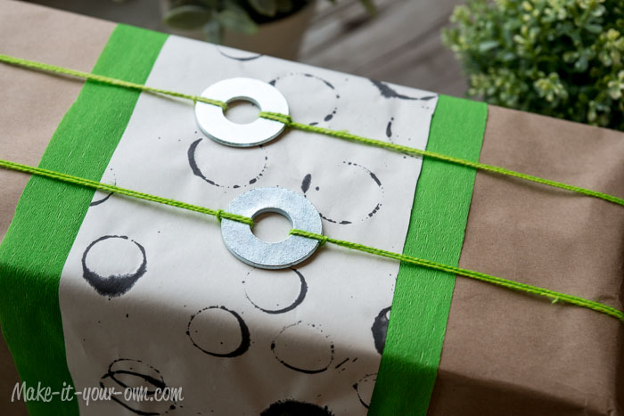 Robot or Building Present Gift Wrap Idea