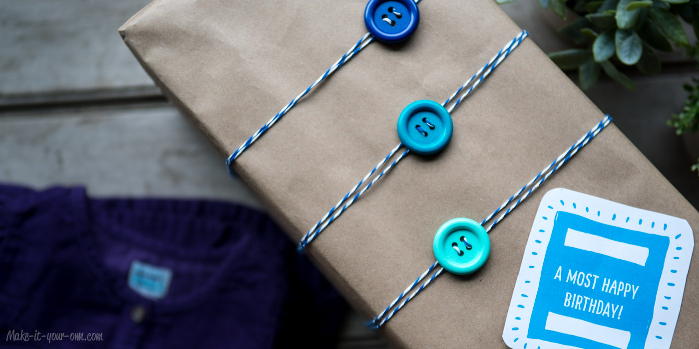 Up Cycling Gift Wrap Idea Clothes