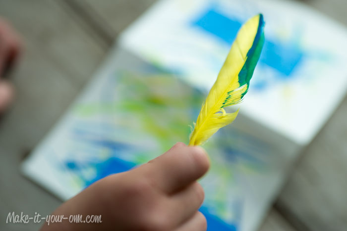 Painting With Feathers: Paint on Feathers