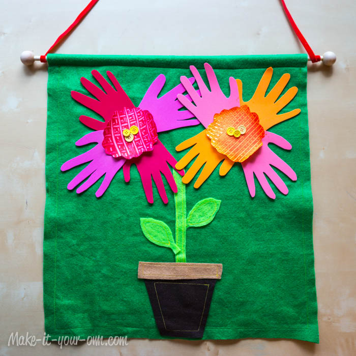 Handprint Flowers Banner make-it-your-own.com