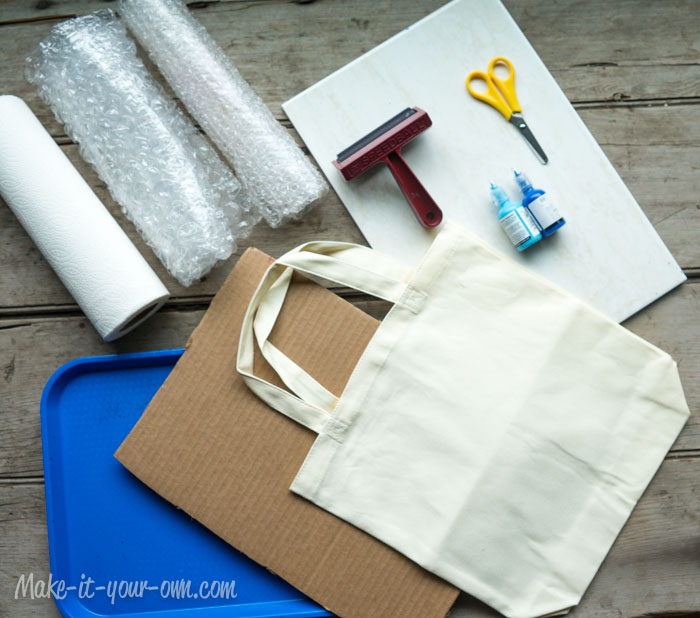 Beach Bag: Printing With Bubble Wrap