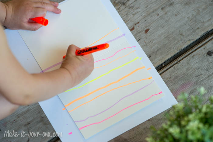 Card making with highlighters and ink from make-it-your-own.com (Art & Craft projects for kids)