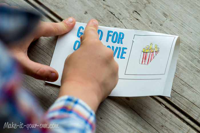 Movie Night Treat Topper: Folding from make-it-your-own.com (printable included!)