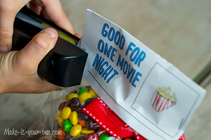 Movie Night Treat Topper: Staple from make-it-your-own.com (printable included!)