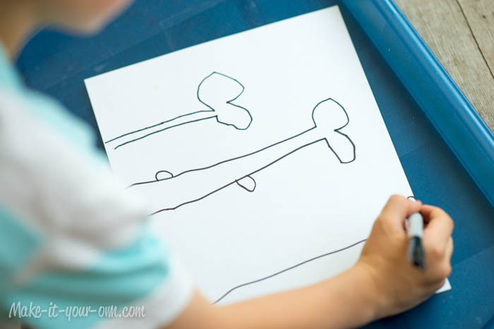 Design Your Own Playdough Mat: Drawing from make-it-your-own.com