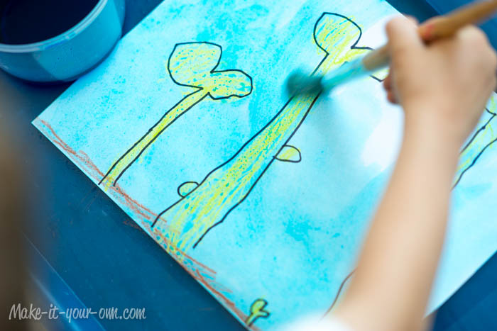 Design Your Own Playdough Mat: Painting from make-it-your-own.com