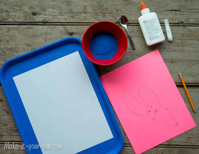 Drawing & Writing with Sand: Supplies from make-it-your-own.com