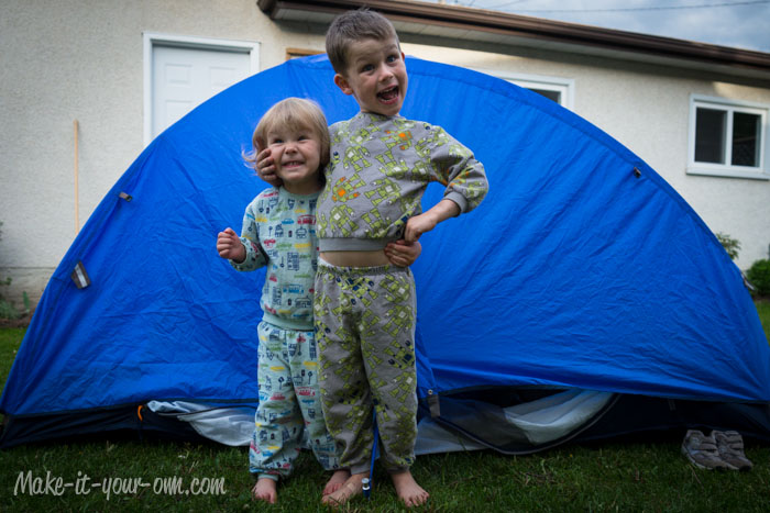Camp in your backyard or have a family sleepover from make-it-your-own.com