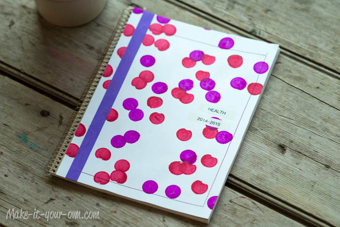 Back to School: Personalize your Notebook with Bingo Markers from make-it-your-own.com (Art, crafts and activities for kids)