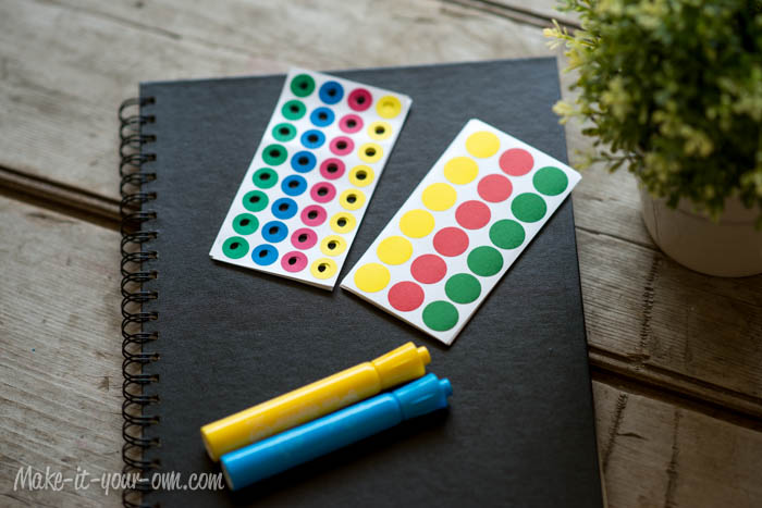 Road Trip Idea: Dots & Lines Sketch Book with make-it-your-own.com