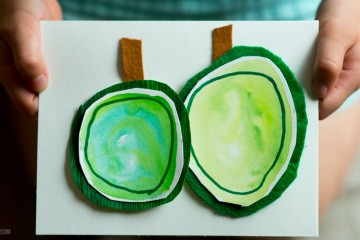 Fall Fun: Apple Watercolour Cards from make-it-your-own.com (Arts, crafts and activities for kids)