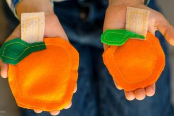 Fall Fun: Pumpkin Bean Bags from make-it-your-own.com (Art, crafts & activities for kids)