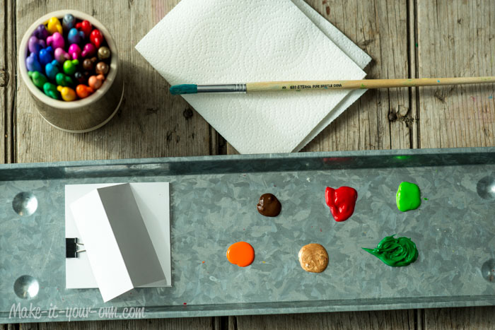 Fall Fun: Fingerprint Place Cards from make-it-your-own.com (Art, crafts & activities for kids)