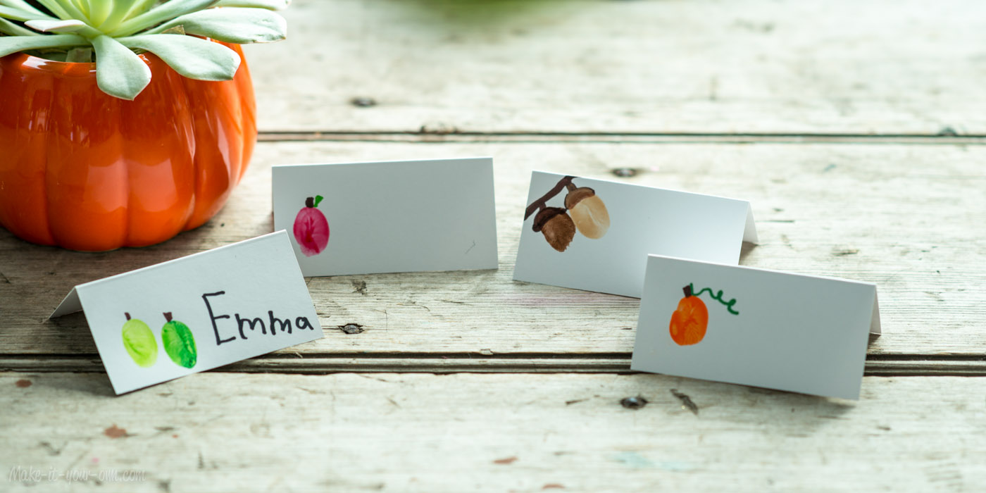 Fall fun fingerprint place cards