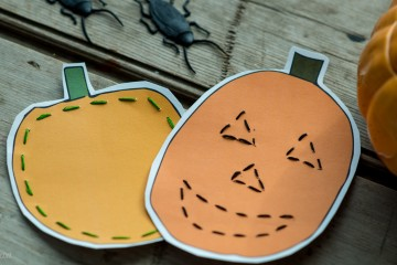 Halloween: Pumpkin Sewing Cards from make-it-your-own.com (Art, crafts & activities for kids)