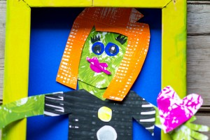 Halloween Textured Monster from make-it-your-own.com (Arts, crafts & activities for kids)