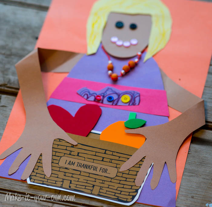 """I Am Thankful For..."" Thanksgiving Activity from make-it-your-own.com (Art, crafts & activities for kids)"