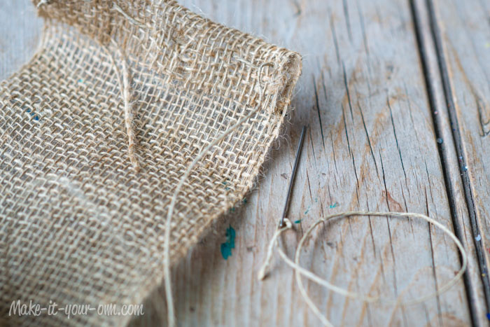 Flower Burlap Table Runner from make-it-your-own.com (Art, crafts & activities for kids)