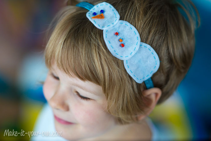 Snow Person Headband from make-it-your-own.com (Art, crafts & activities for kids)
