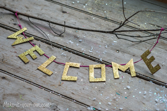 Glittered Letter Garland from make-it-your-own.com (Art, crafts & activities for kids)