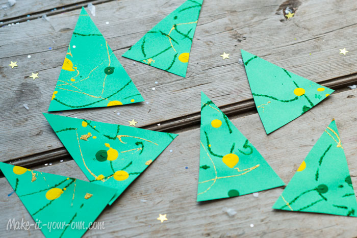 Decorating with Children's Artwork: Tree Tags from make-it-your-own.com (Art, crafts and activities for kids)