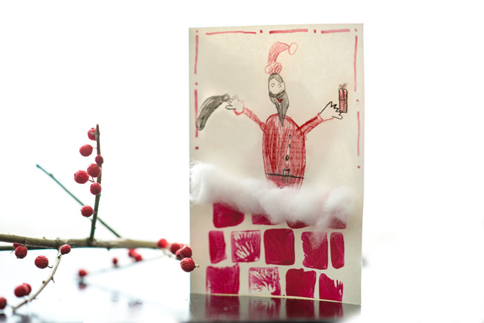 Santa Starter Card (with eraser stamps) from make-it-your-own.com (Art, crafts and activities)