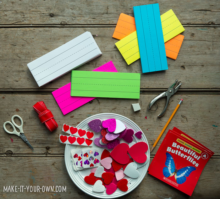 Pre-school Valentine Idea from make-it-your-own.com (Crafts & Activities for Kids)