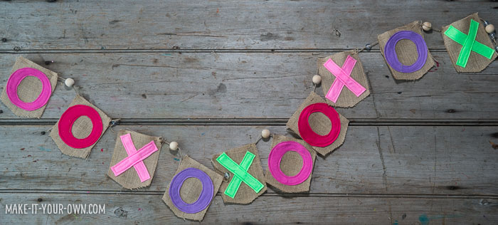 XO Garland from make-it-your-own.com (Crafts & Activities for Kids)